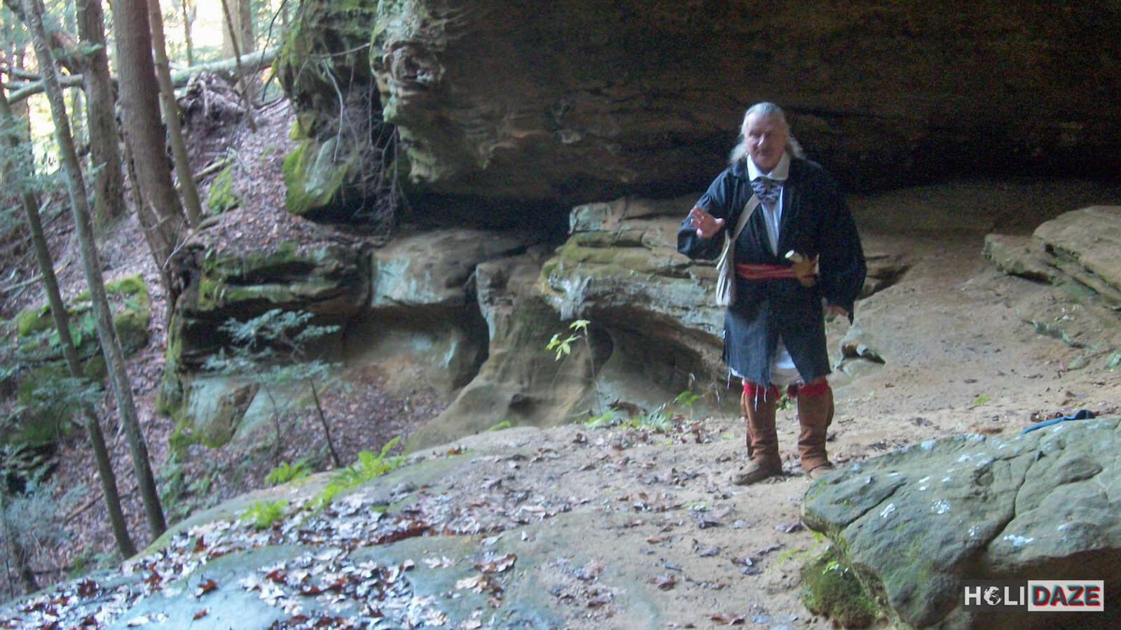 Shawnee storytelling session in Hocking Hills, Ohio