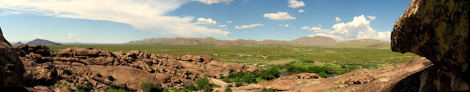 Panoramic view from North Mountain at Hueco Tanks State Park