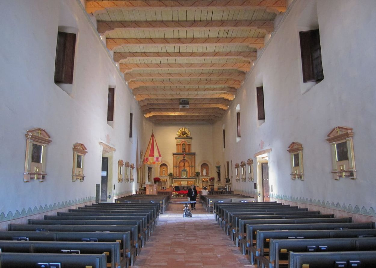 Altar of the church at Mission San Diego de Alcala in California