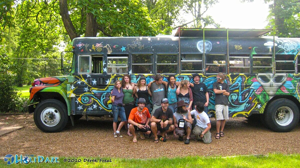 The Future Bus and its merry band of derelicts in Nashville, Tennessee