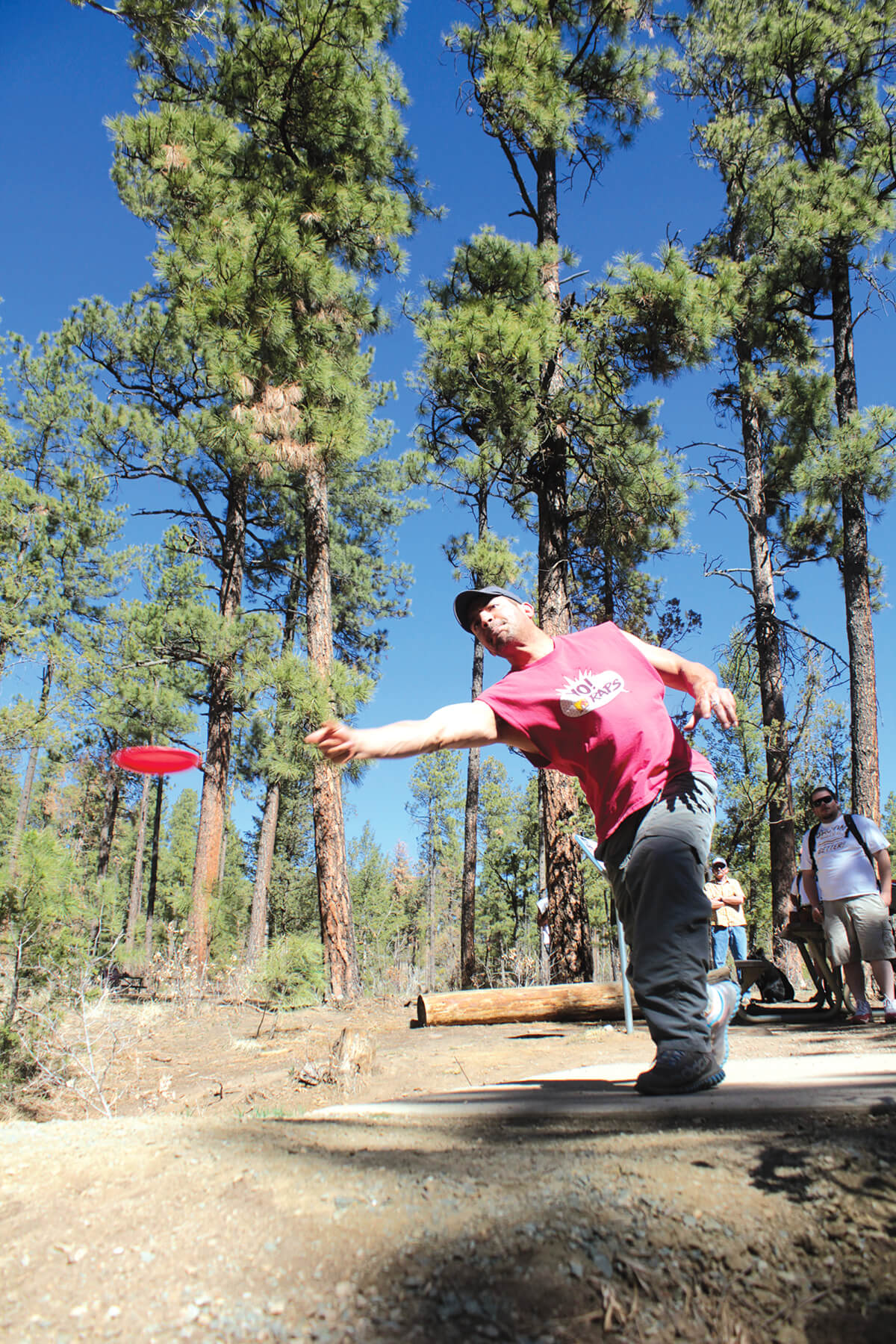 Disc golf at Grindstone Lake is one of the top unique and offbeat outdoor activities in Ruidoso, New Mexico