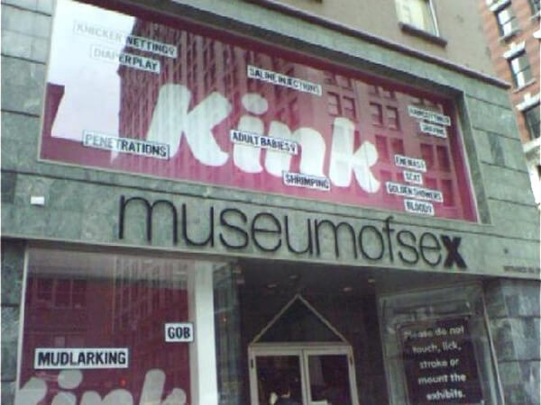 The Museum Of Sex in New York City, one of the cool offbeat things to do in NYC