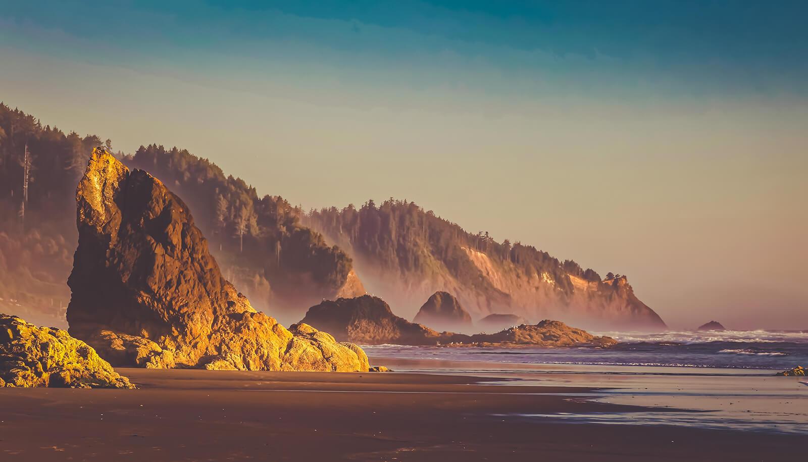 Sunset on the Oregon Coast