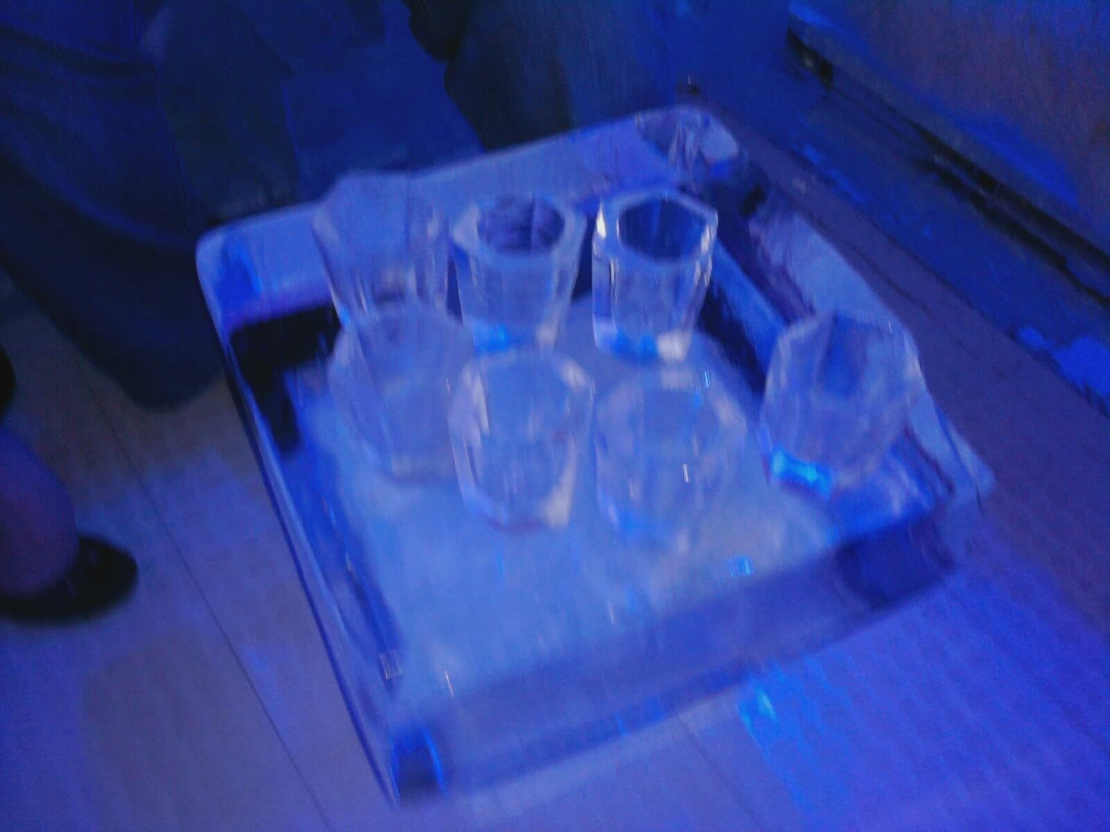 Shot glasses made of hand-carved ice at the Orlando Ice Bar, one of the offbeat Orlando activities that keeps Florida exciting