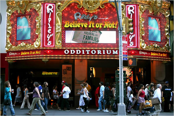 Ripley's Believe It Or Not! Odditorium at Times Square in New York City, one of the cool offbeat NYC things to do