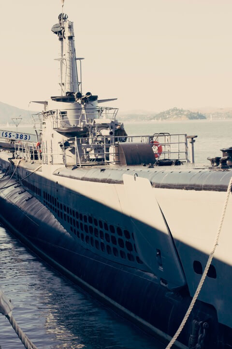 Exploring the USS Pampanito submarine in San Francisco