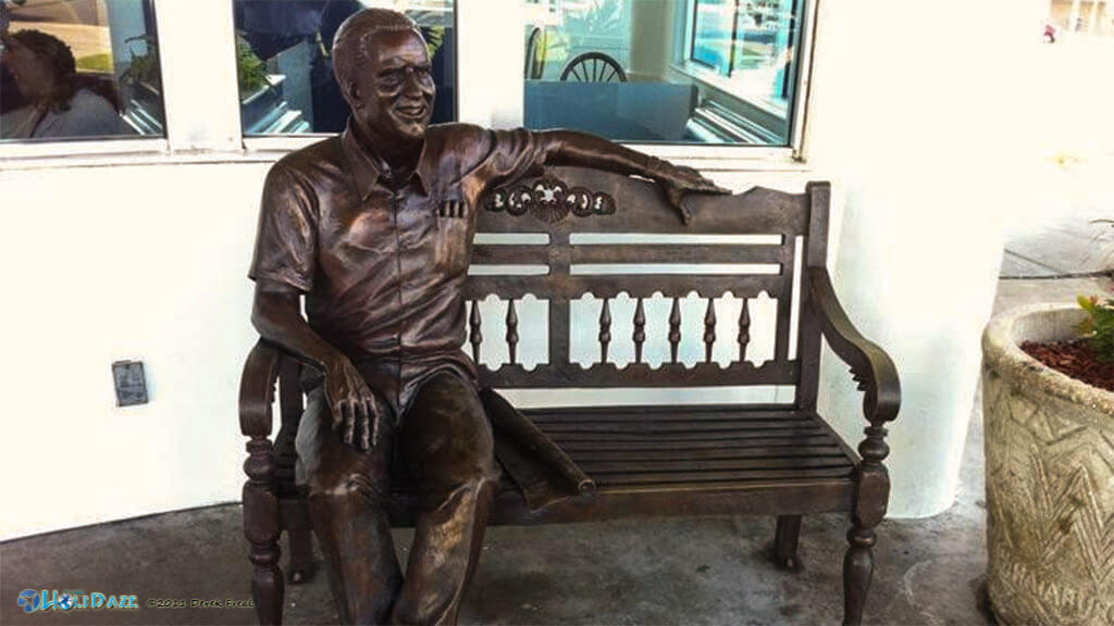 The statue of Harmon Dobson, founder of Whataburger, can be found in Corpus Christi, Texas