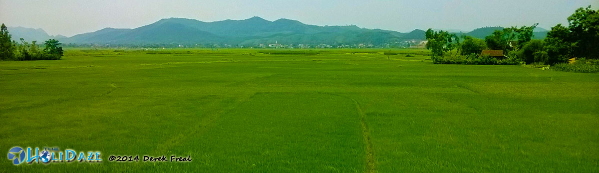 Pristine Vietnamese countryside along the Ho Chi Minh Trail
