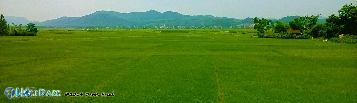 Pristine Vietnamese countryside along the Ho Chi Minh Trail