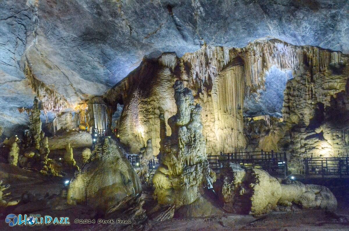 Paradise Cave in Vietnam is still a relatively new tourist -- it only opened to the public in 2010