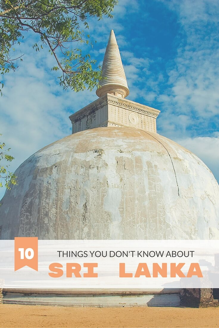Presenting the top 10 things you didn't know about Sri Lanka. It's India for beginners.