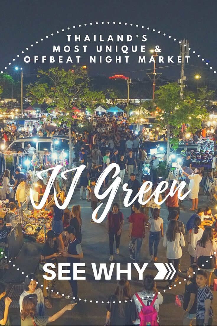 Exploring the one-of-a-kind JJ Green Night Market in Bangkok, the most unique, offbeat and quirky market in all of Thailand! #travel #thailand #asia #shopping #exploremore #offbeat