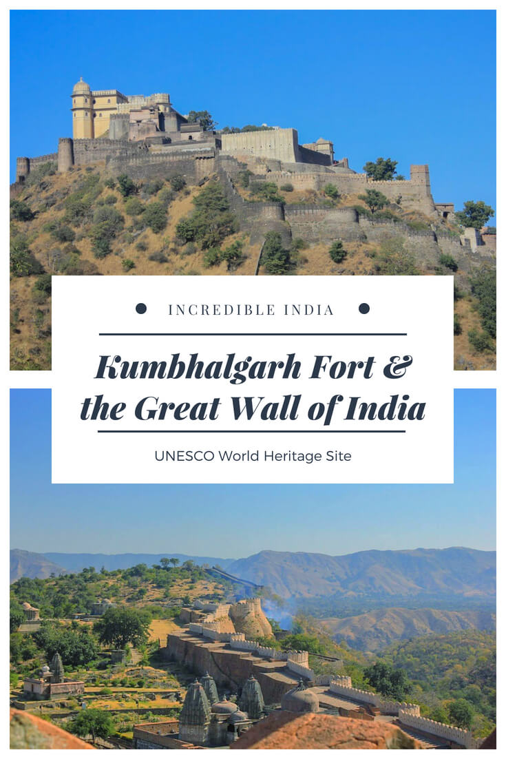 Kumbhalgarh Fort and the Great Wall of India, a stunningly beautiful UNESCO World Heritage Site in #Rajasthan #incredibleindia #travel #unesco #exploremore #offbeat