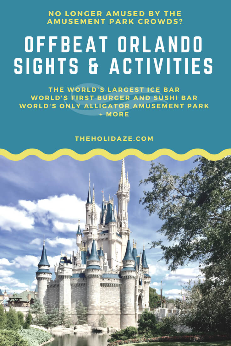 Overlooked and #offbeat #Orlando activities. World's largest ice bar. World's first burger and sushi bar. World's only Tupperware museum. World's only alligator amusement park. And more! #travel #florida #travelguide #unique #offbeat #holidaze #traveltips #orlando