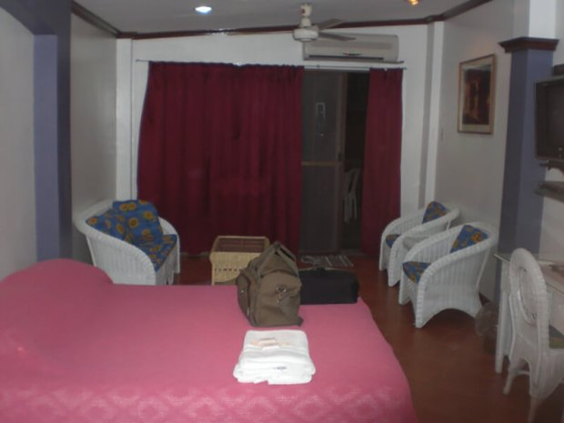 Hotel room at Mango's Resort at Subic Bay in the Philippines