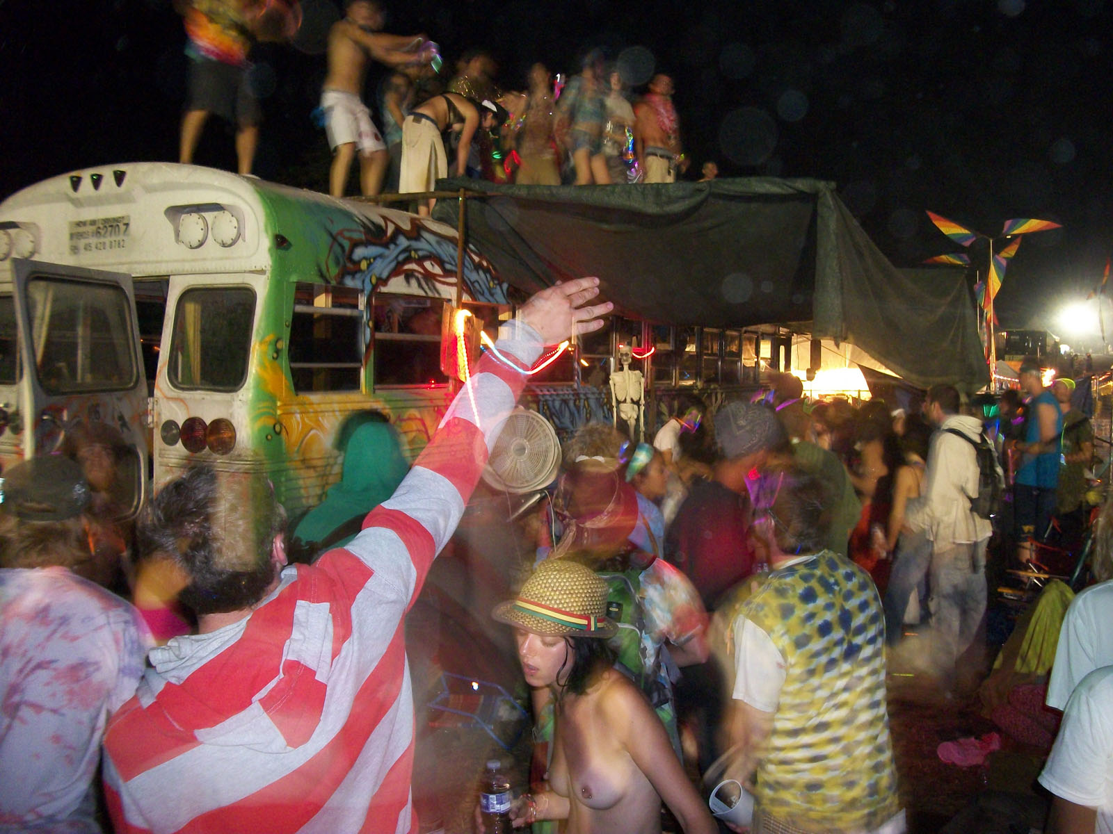 There was always a party going on at the Future Bus!