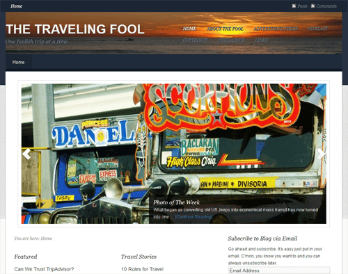 The HoliDaze Travel Blogger Interviews: The Traveling Fool