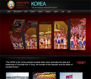 Screenshot: Official DPRK Site