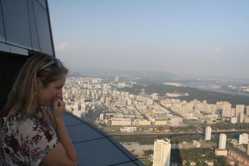 The view from Ryugyong Hotel in Pyongyang, North Korea