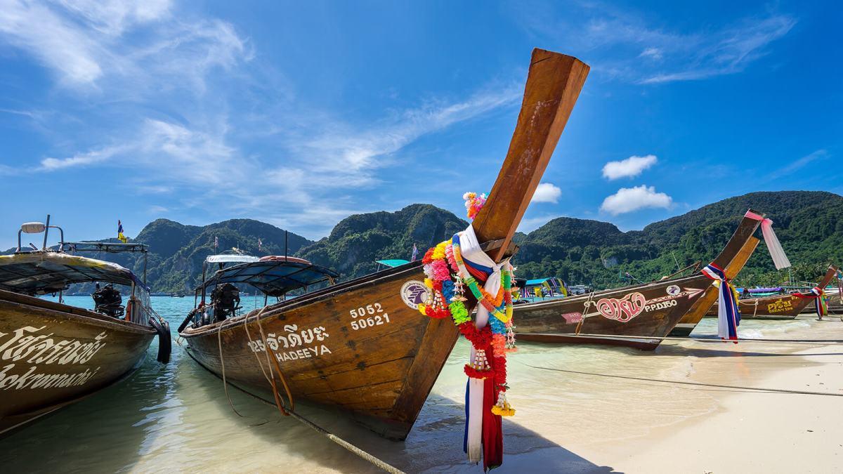 Tonsai Pier at Ko Phi Phi in southern Thailand