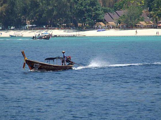 Longtail boat headed to Ko Phi Phi, Thailand