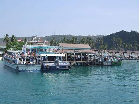 Harbor at Ko Phi Phi, Thailand