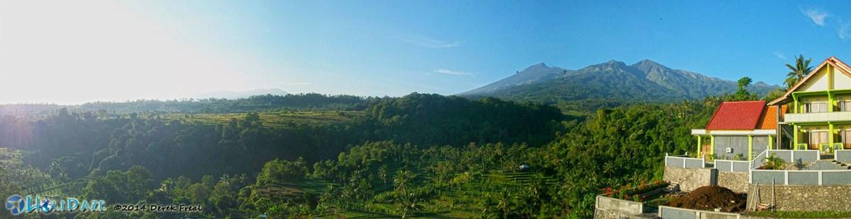 Mount Rinjani and Lombok Island Panorama