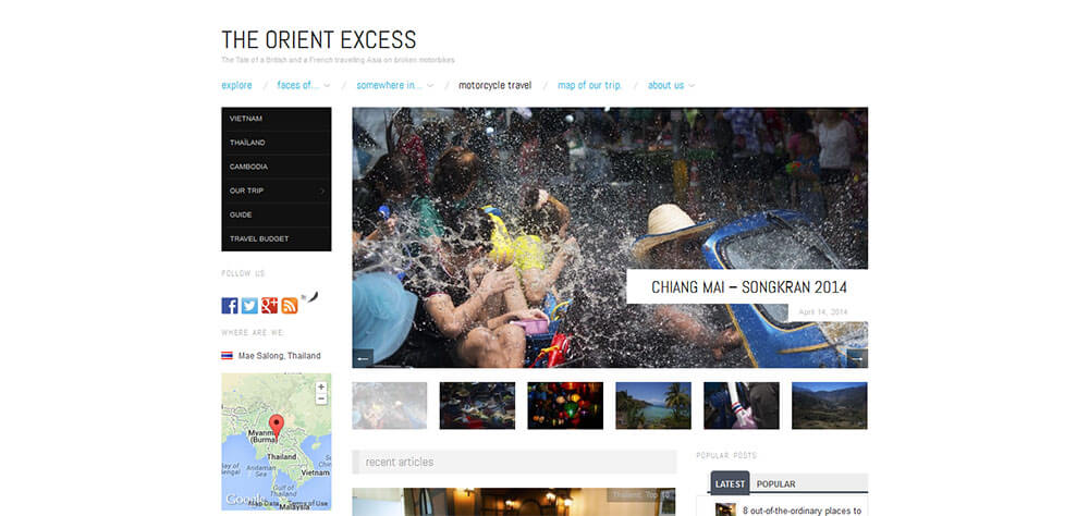 Best New Travel Blogs: Orient Excess