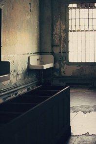 The Hospital wing of Alcatraz prison in San Francisco Bay, California