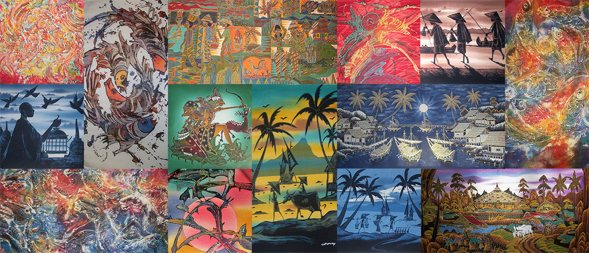 Beautiful batik art in Indonesia