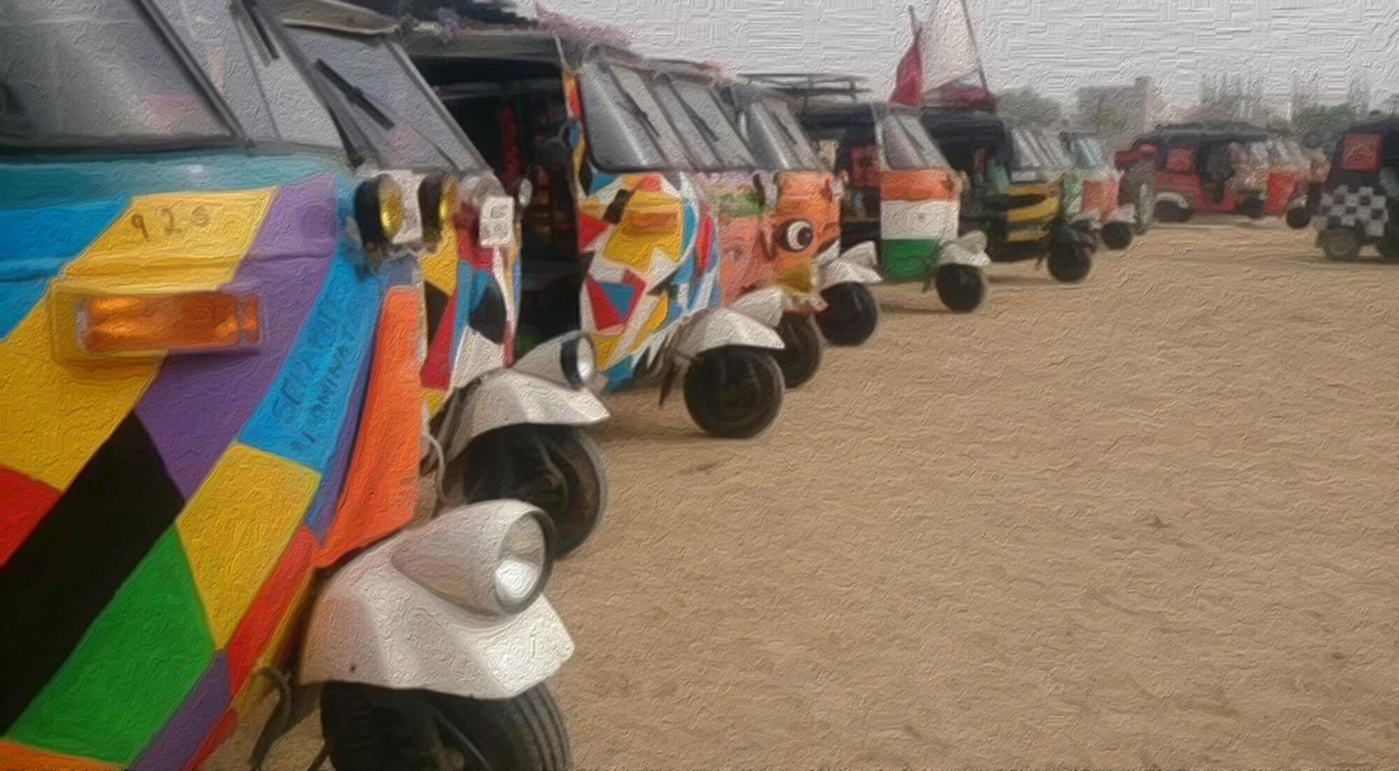 Rickshaw Run Finish Line