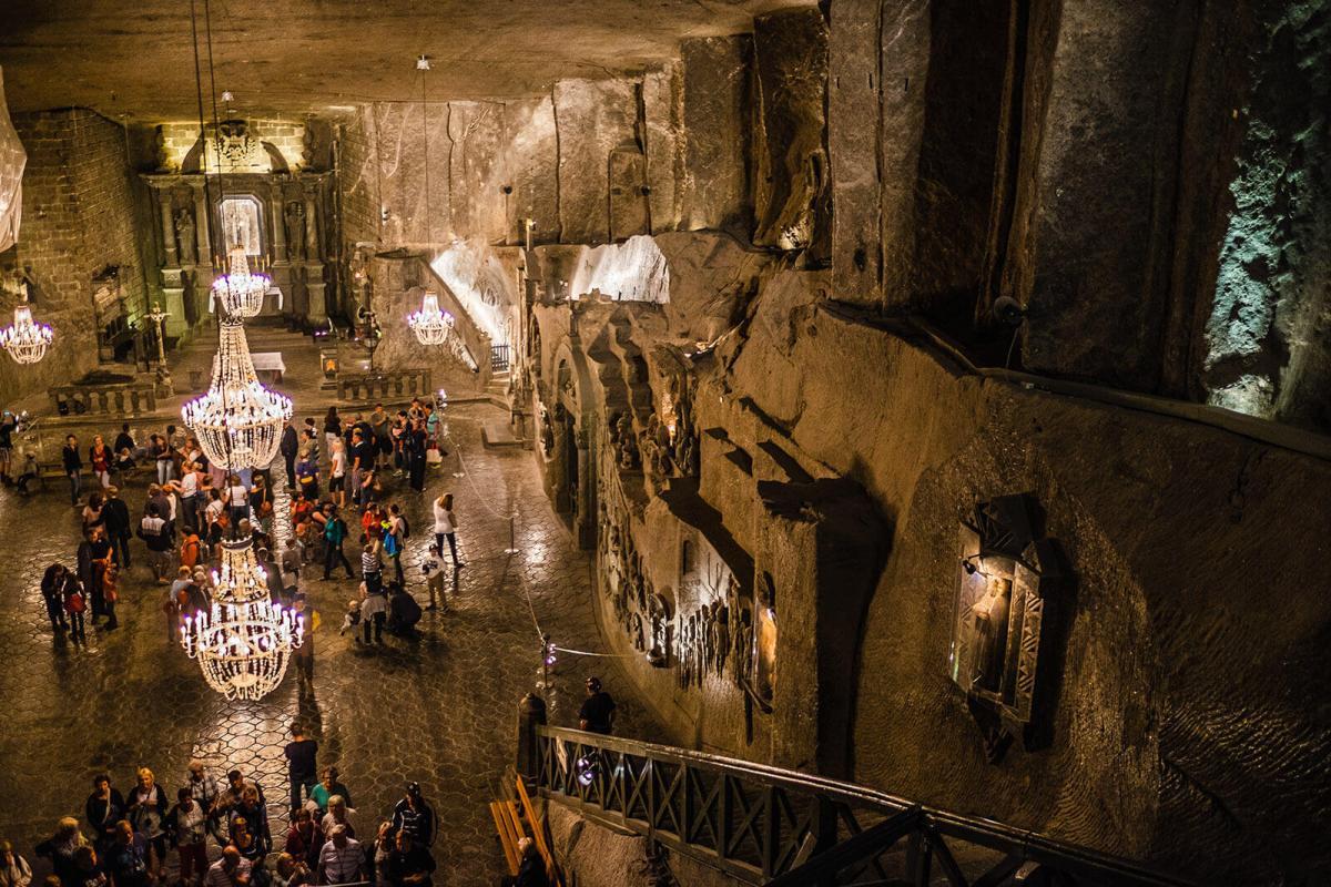 Wieliczka Salt Mine near Krakow, Poland