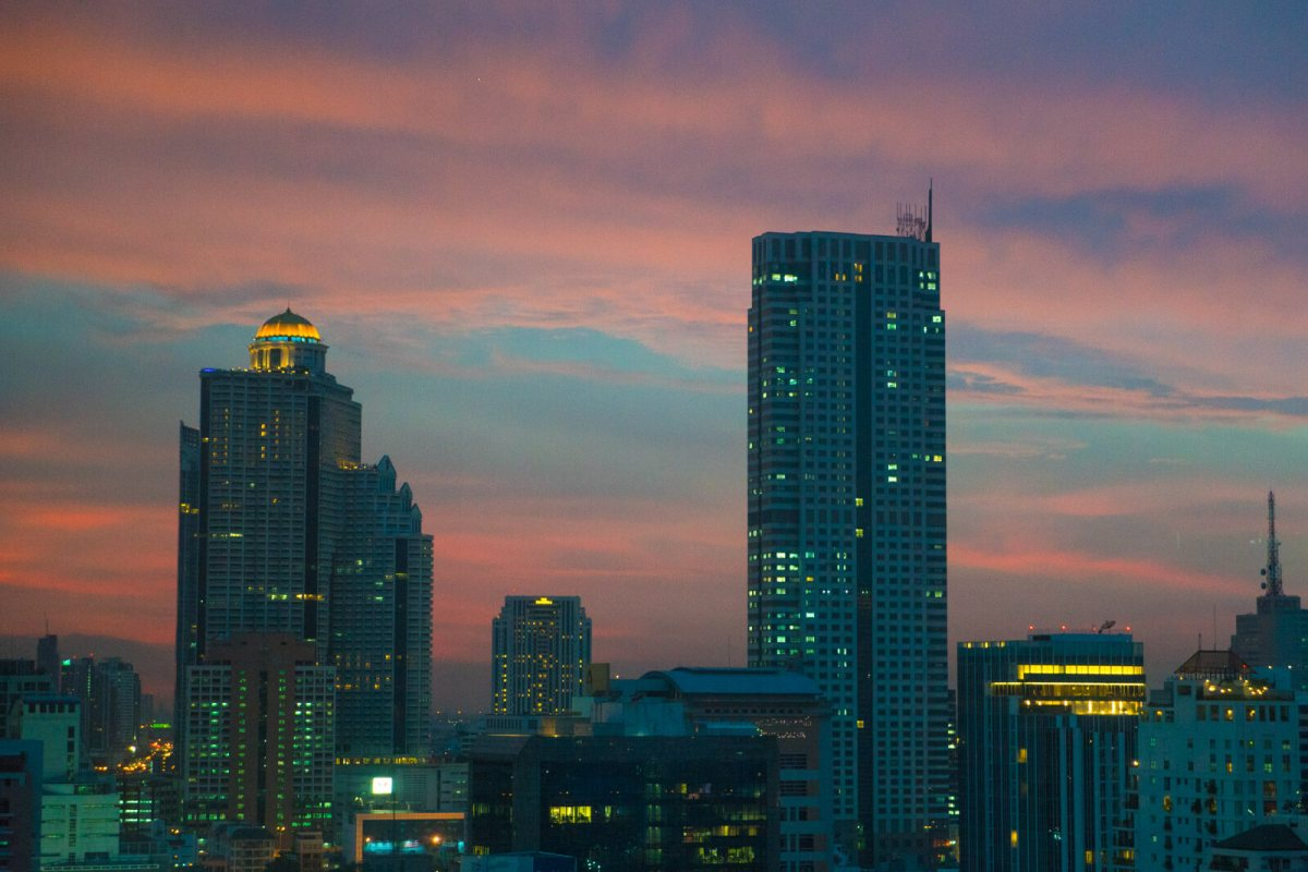 Bangkok Skyline Sunset Wallpaper