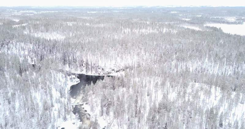 Aerial view of Oulanka National Park in Northern Finland