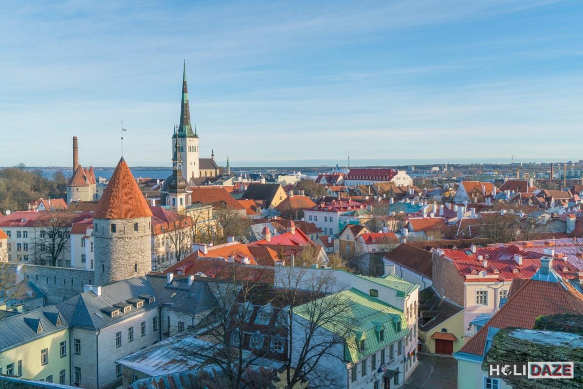The beautiful Tallinn skyline as seen from the Patkuli Viewing Platform