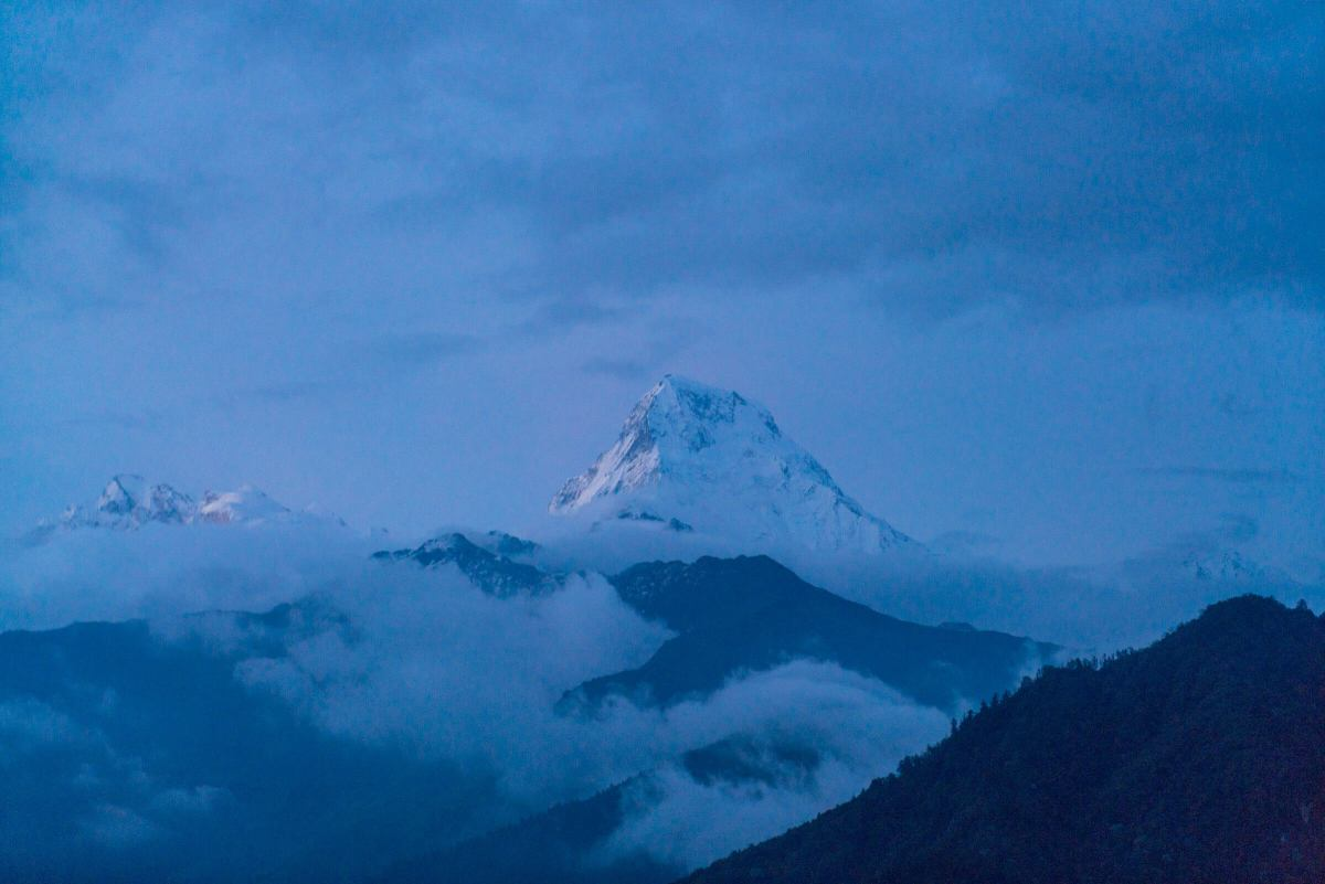 Annapurna South, also known as Moditse, as seen from our hotel in Ghorepani