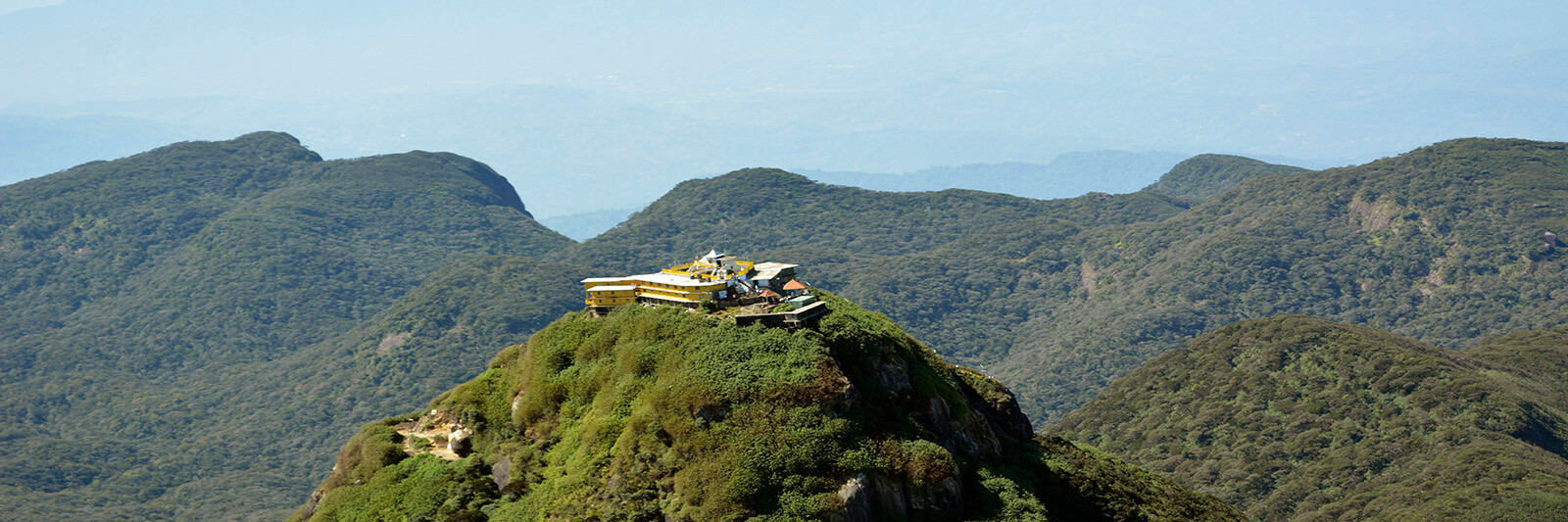 Aerial View of Adam's Peak in Sri Lanka