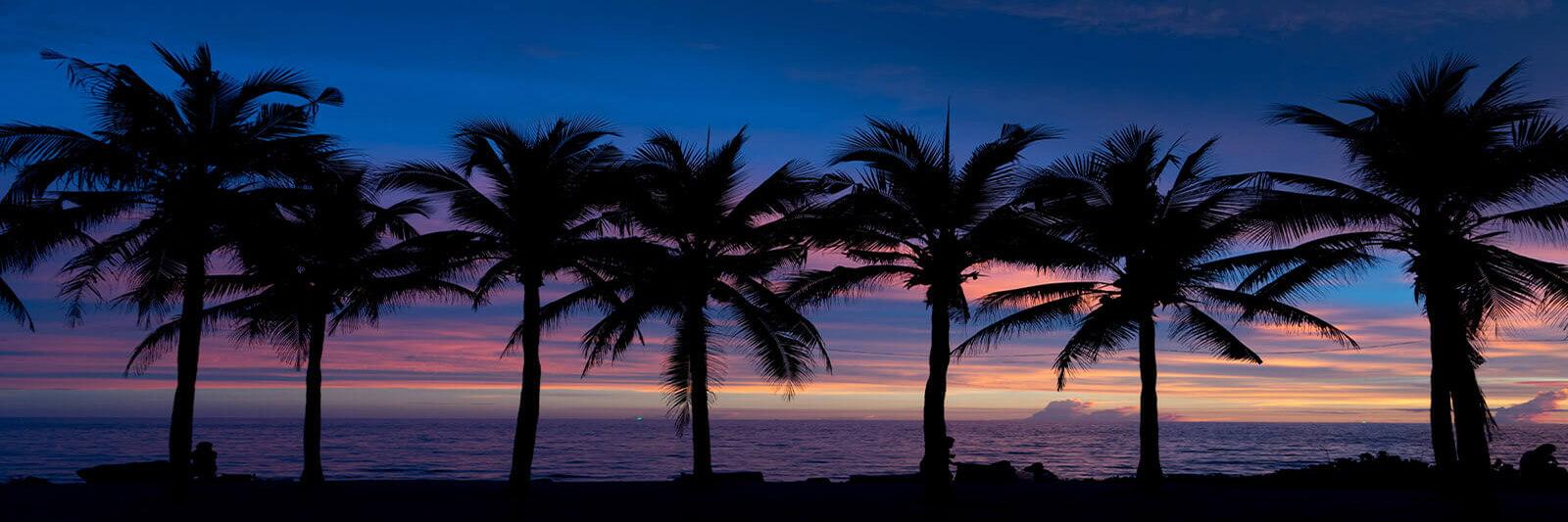 Sunset at the beach on Ko Samet, Thailand