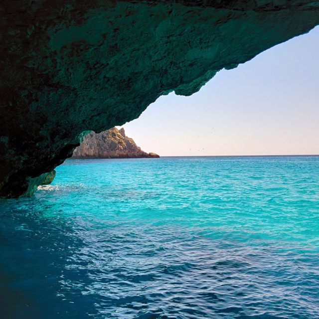 The blue caves of Zakynthos, Greece