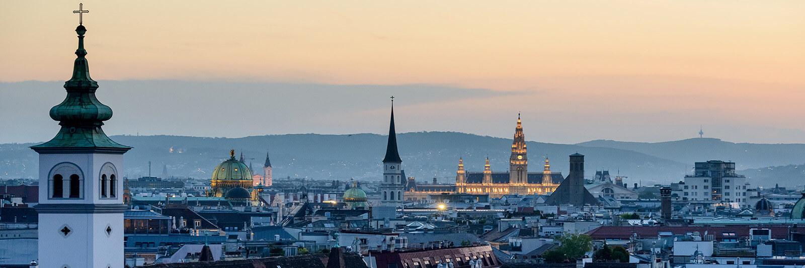 Vienna, Austria skyline