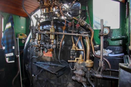 Engine of the WW 480 at Glenbrook Vintage Railway was built in 1910 at the Hillside Railway Workshops in Dunedin