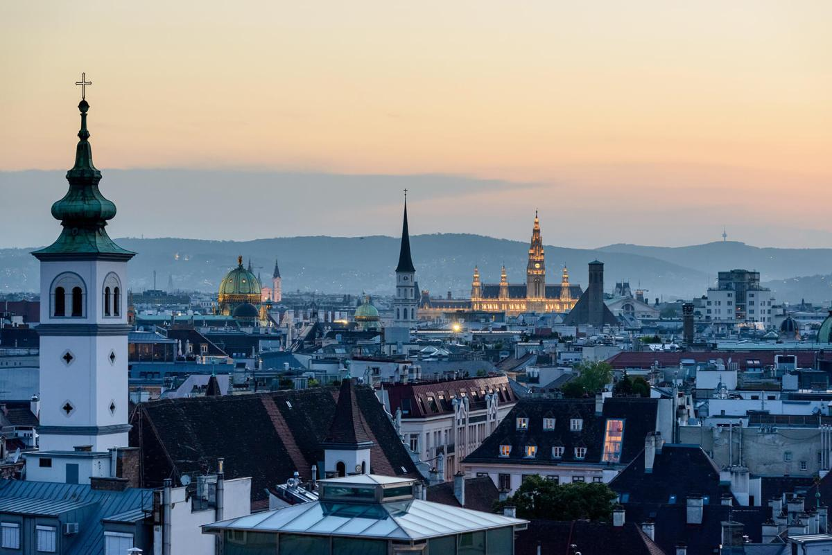 Skyline of Vienna, Austria
