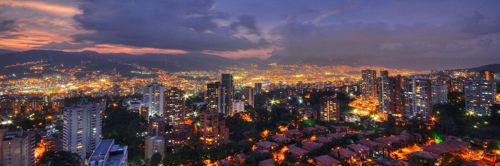 Medellín, Colombia at night