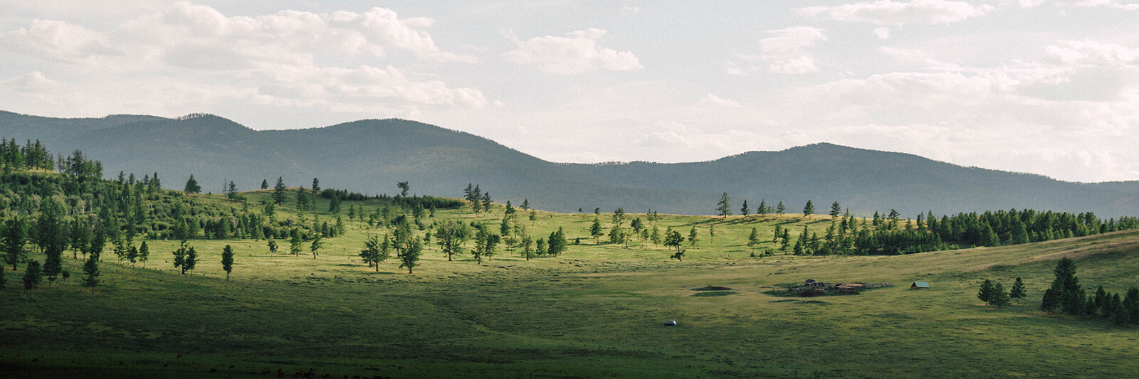 Gorgeous rolling hills of the Mongolian countryside