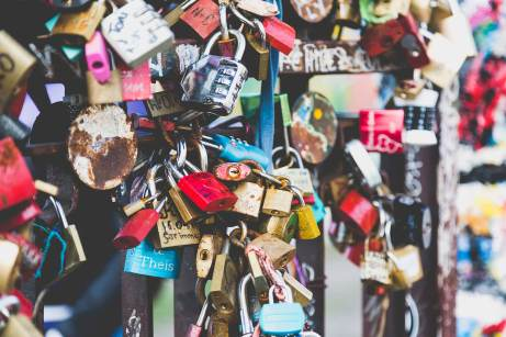 Love locks in Berlin, Germany