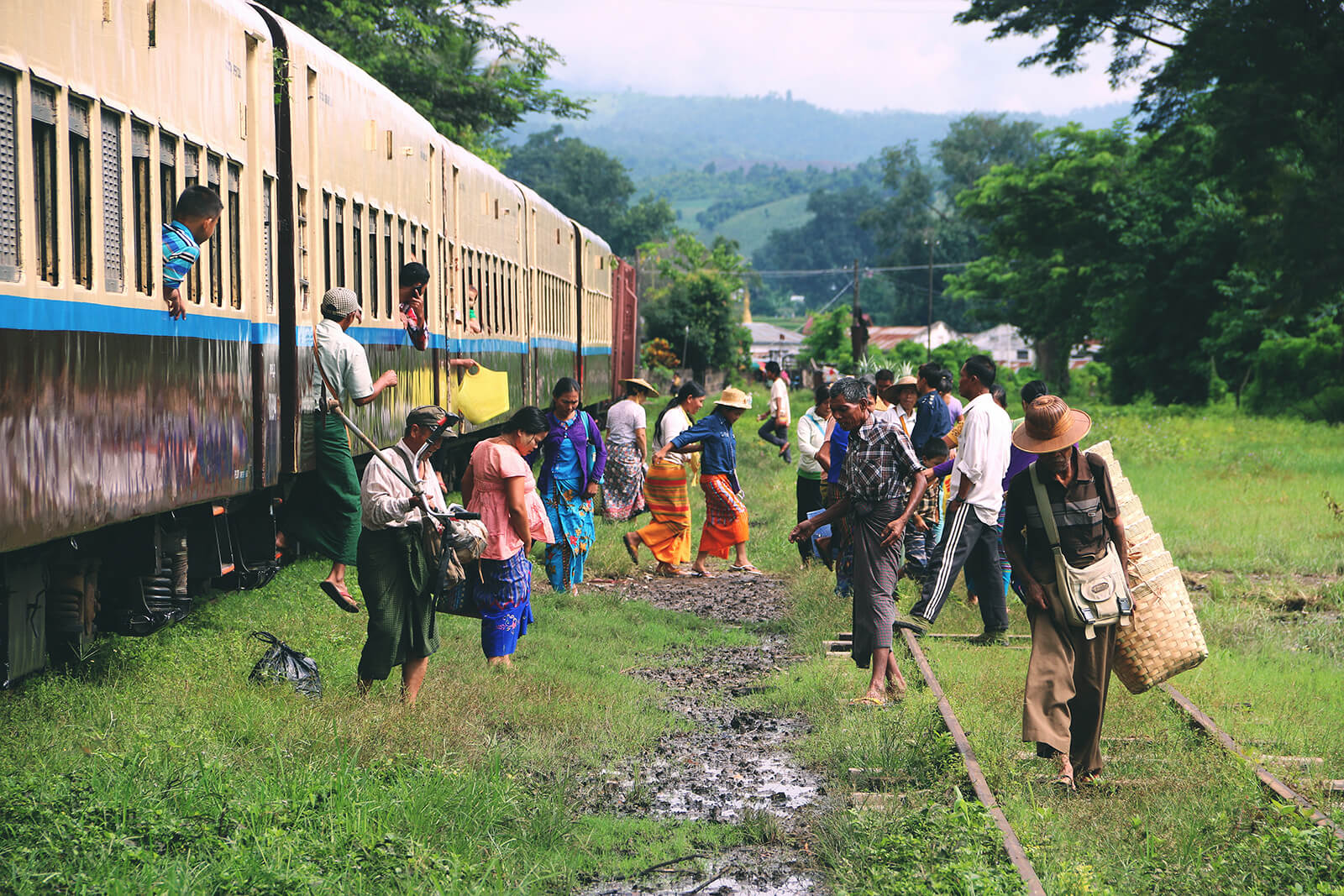 Train to Hsipaw, Myanmar