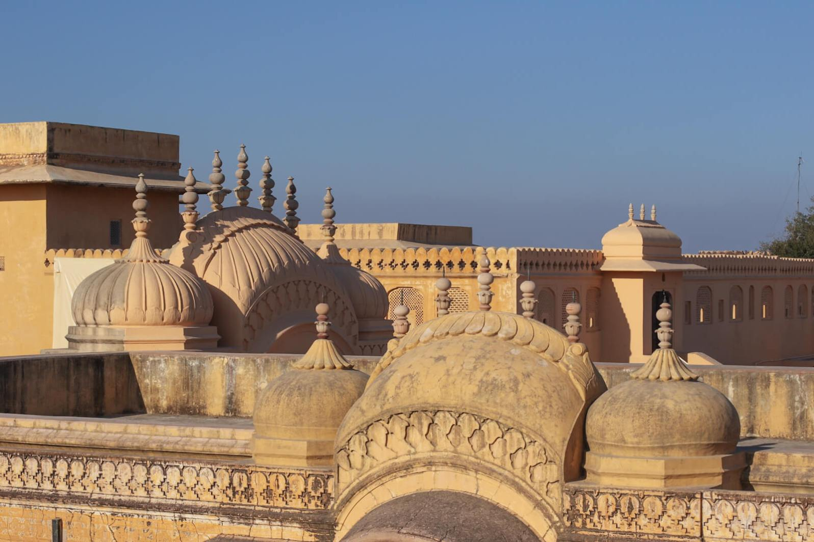 Rooftop of Nahargarh Fort in Jaipur, Rajasthan, India