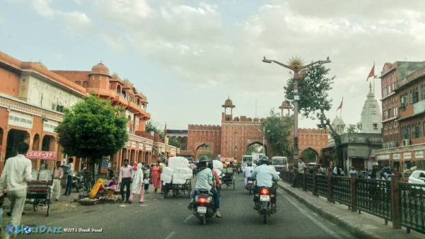 Driving around Jaipur Pink City