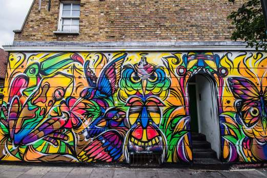 Street art in the cool and quirky Camden Town, London, United Kingdom