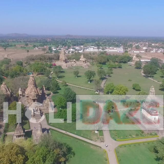 World's Only Aerial Video of the 1,000 Year Old Khajuraho Temples